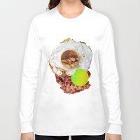 breakfast Long Sleeve T-shirts featuring Breakfast by Z DelFavero