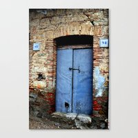 door Canvas Prints featuring door by  Agostino Lo Coco