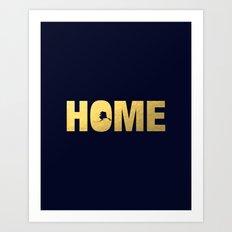 Alaska home state faux gold foil print Art Print