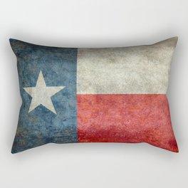 Texas state flag, vintage banner Rectangular Pillow