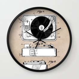 patent art Like combination sound and picture mechanism 1950 Wall Clock