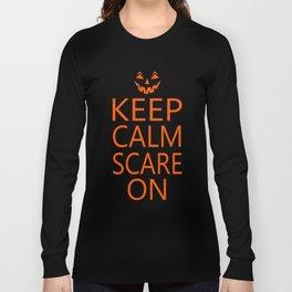 Keep Calm Sacre On Pumpkin Face Long Sleeve T-shirt