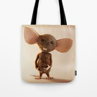 rat Tote Bags featuring Rat by timecore