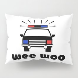 Police Car Wee Woo Pillow Sham