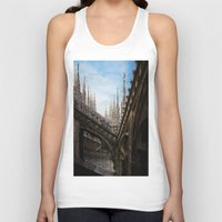 spires Tank Tops featuring Duomo di Milano spires by Marc Daly