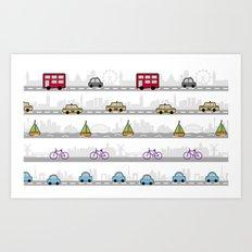 City travel Art Print