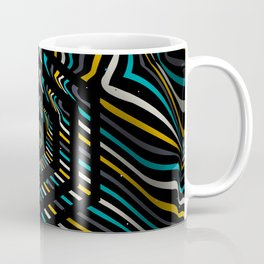 Beautiful color background with striped lines and hexagons Coffee Mug