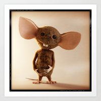 rat Art Prints featuring Rat by timecore