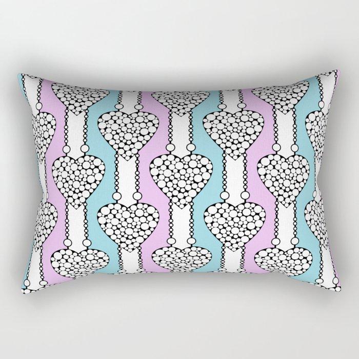 Openwork heart Rectangular Pillow