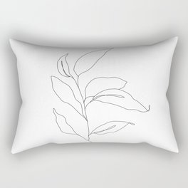Plant one line drawing - Heidi Rectangular Pillow