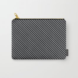 Sharkskin and Black Stripe Carry-All Pouch