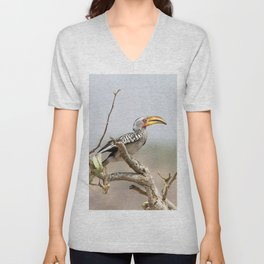 Yellow billed hornbill Unisex V-Neck