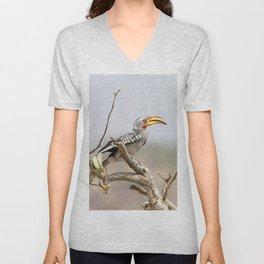 Yellow billed hornbill Unisex V-Neck