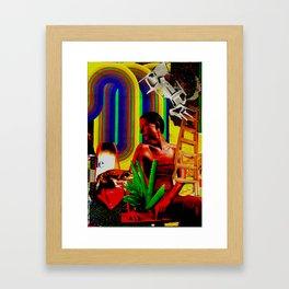 Neon time Framed Art Print