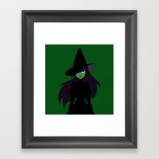 wicked witch Framed Art Print