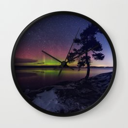 Northern Shimmer Wall Clock