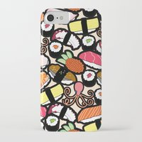 sushi iPhone & iPod Cases featuring Sushi! by thickblackoutline