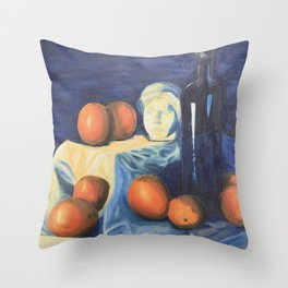 Complimentary Color Still Life Throw Pillow