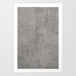 Grey Concrete Art Print