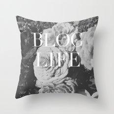 blog and/or thug life Throw Pillow