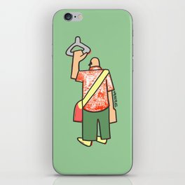 a man going to work to fill up the voids iPhone Skin