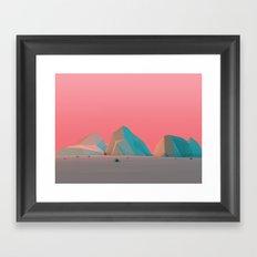 Geometric Landscape VH07 Framed Art Print