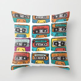 MIXTAPE - ANALOG zine Throw Pillow
