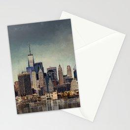 New York City Skyline Mixed Media Stationery Cards