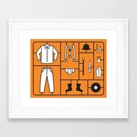kit king Framed Art Prints featuring Clockwork Kit by Kerkko Ulmanen