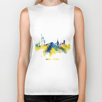 new york skyline Biker Tanks featuring New York City Skyline  by jbjart