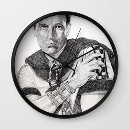 Charlton heston ben hur Wall Clock