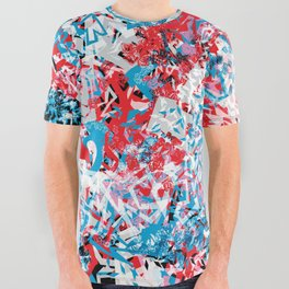 Demonic Toy Poodle Abstract All Over Graphic Tee