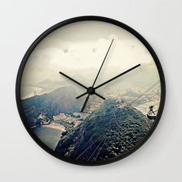 explore. {minus typography Wall Clock