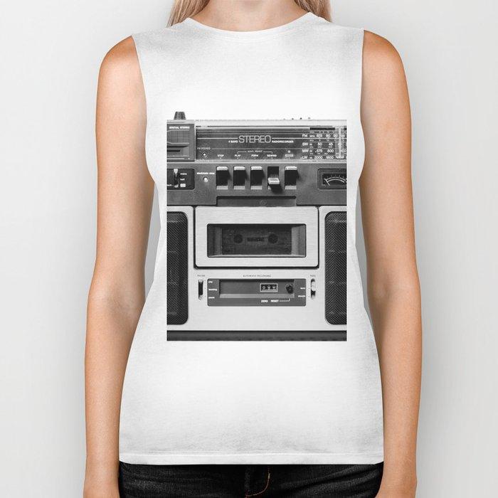 cassette recorder / audio player - 80s radio Biker Tank