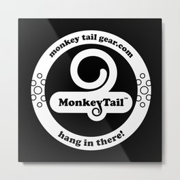 Monkey Tail Gear Logo - 002 White Metal Print