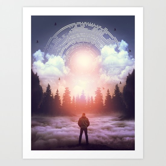 Waiting for the Sun to Rise Art Print