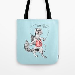 Cat gone Fishing Tote Bag