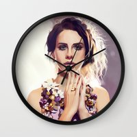 lana Wall Clocks featuring Lana by MartaDeWinter