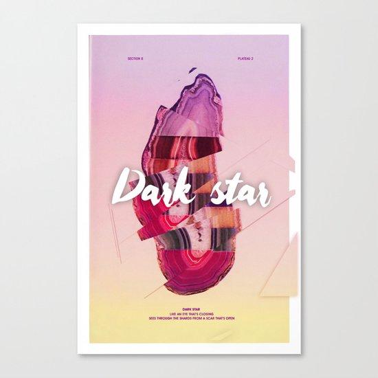 Dark star Canvas Print
