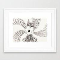 schnauzer Framed Art Prints featuring Schnauzer by Noreen Loke