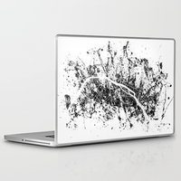 paris map Laptop & iPad Skins featuring PARIS by Nicksman
