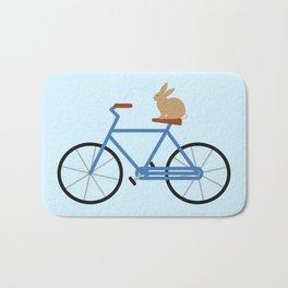 Bunny Riding Bike Bath Mat