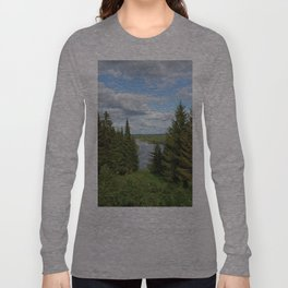 Landscape view on the taiga in Kargort village in Komi Republic of Russia. Long Sleeve T-shirt