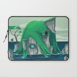 The wanderer and the ancient island Laptop Sleeve