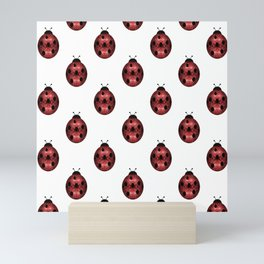 Sparkly red sparkles Ladybug pattern Mini Art Print