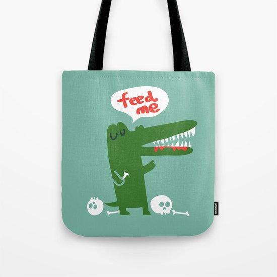 Hungry Hungry Alligator Tote Bag