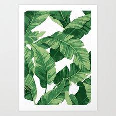 Tropical banana leaves IV Art Print