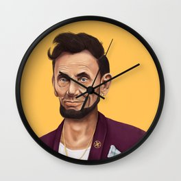 Hipstory -  Abraham Lincoln Wall Clock