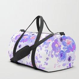 Lilac lavender violet pink watercolor elegant floral Duffle Bag