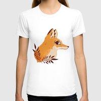 nan lawson T-shirts featuring Fox Familiar by Nan Lawson